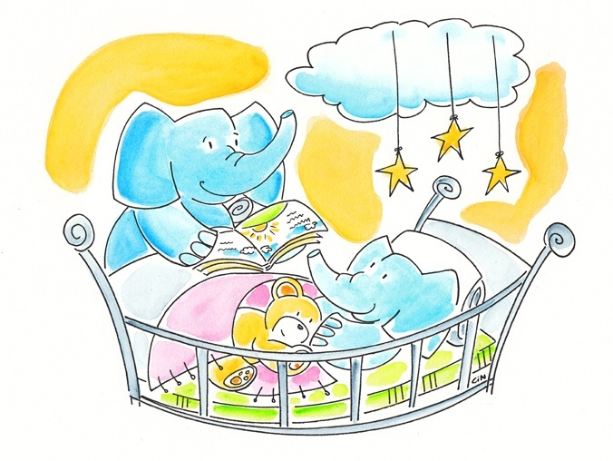 Mommy Elephant and Baby